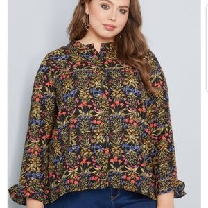 Floral blouse from modcloth 2xl